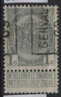 PREOS Roulette - GENVAL 1909 (position A). Cat 1318 Cote 250. - Precancels