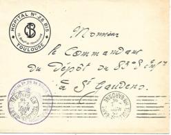 31-cachet Hôpital N°28 Bis De Toulouse Sur Lettre à En-tête De L'Hôpital En 1916 - Marcophilie (Lettres)