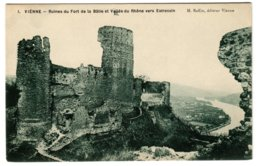 VIENNE - Ruines Du Fort De La Bâtie Et Vallée Du Rhône Vers Estressin - Vienne