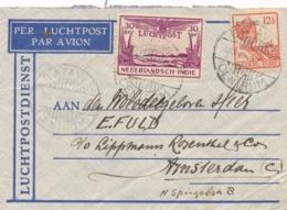 Nederlands Indië - 1932 - LP-briefje Van LBnr BataviaCentrum/16 Naar Amsterdam - Hooger Reisgenot Per KNILM Sluitzegel - Niederländisch-Indien