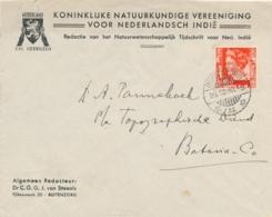 Nederlands Indië - 1940 - 10 Cent Wilhelmina Op Business Cover Van Buitenzorg Naar Batavia - Nederland Zal Herrijzen - Niederländisch-Indien