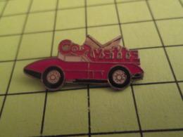 310c Pin's Pins / Beau Et Rare / THEME : AUTOMOBILES / CORVETTE ROUGE - Corvette