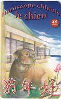 Polynesie Francaise Tahiti Telecarte Phonecard Prepaid PF156 Horoscope Chinois Chien Dog Ut BE - Französisch-Polynesien