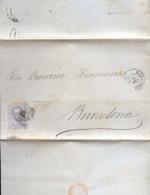 Año 1872 Edifil 121 10c Amadeo I Carta Matasellos Rombo Zaragoza Membrete De Joaquin Juncosa De Zaragoza - 1872-73 Reino: Amadeo I