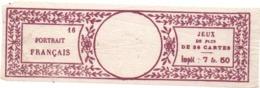 Fiscal - Portrait Français -Jeux De Cartes - Violet N° 16-  Impôt De 7 Fr 50 - (papier Bulle)      Voir Scans - Fiscaux