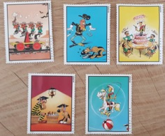 Lot De 5 Vignettes Lucky Luke / Daltons - Morris - Erinnofilia