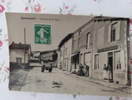 Apremont Avenue De La Gare Photo Carte Postale Haute Saône Franche Comté - France