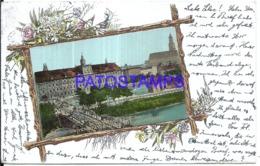 120168 GERMANY BRESLAU ART SILESIA UNIVERSITY BRIDGE WITH UNIVERSITY CIRCULATED TO AROLSEN POSTAL POSTCARD - Allemagne