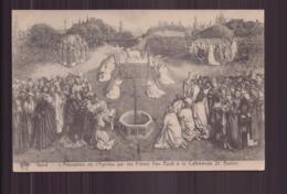 GAND L ADORATION DE L AGNEAU PAR LES FRERES VAN EYCK A LA CATHEDRALE SAINT BAVON - Peintures & Tableaux