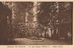 France | Paris - 1900/30 - Postcard: Hotels | Pension De Famille. - 14, Rue Mayet, Paris IV. - Metro Duroc - Bar, Alberghi, Ristoranti