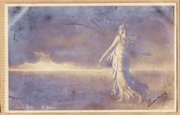 X75619 Carte-Photo YVON La Semeuse D'après Oscar ROTY 1904 à DUCROS 31 Rue Notre-Dame De Nazareth Paris - Cultures