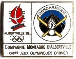 ALBERTVILLE 92 - JO12 - COMPAGNIE DE MONTAGNE D'ALBERTVILLE - XVIe J.O. - Verso :STARPIN'S - Juegos Olímpicos