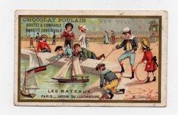 CHROMO Chocolat Poulain Laas Les Bateaux Paris Jardin Du Luxembourg Voiliers Jouets Enfants Jeux - Poulain