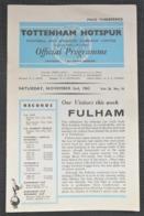Official Football Programme  Tottenham Hotspur - Fulham 1963 - Sports