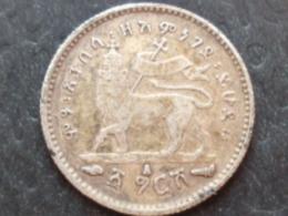 ETHIOPIE ARGENT GERSCH 1889 A - Ethiopië