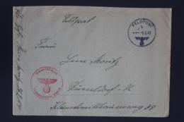 DR Feldpost Brief Mit Inhalt, Leningrad 1942 Mit Detaillierte Festlegung Dusseldorf - Allemagne