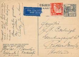 Nederlands Indië - 1939 - 3,5 Cent Karbouwen, Briefkaart G63 + 10 Cent Wilhelmina Van LB KOETARADJA Naar Rotterdam - Niederländisch-Indien