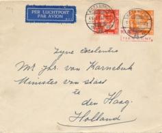 Nederlands Indië - 1939 - 10 Op 12,5 Cent Wilhelmina, Envelop G56b + 10 Cent Wilhelmina Van LB KOTANOPAN Naar Den Haag - Niederländisch-Indien