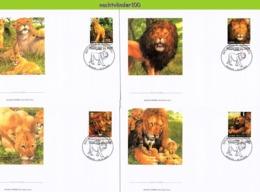 Nfd16fb FAUNA WILDE KAT ROOFKAT LEEUW LION WILD CAT KATZEN GROßKATZEN FELINS TOGO 2012 FDC's - Raubkatzen