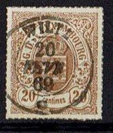Luxemburg 1865 // Mi. 19 B O - 1859-1880 Coat Of Arms
