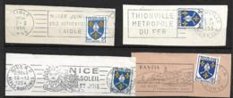 FRANCE 1954  Lot 4  Timbres N°  1005 +  Flamme Sur Fragment - Autres