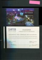 B 8 - Hong Kong ** Bloc 139 + Certificat - Inaug. Du Parc Disney - 1997-... Chinese Admnistrative Region
