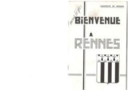 Garnison De Rennes - Guide D'accueil - Années 1980 - 40 Pages  - 21 X 13,5 Cm - Documenti