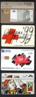4 Télécartes - 3 Belges + 1 Chine - Télécartes