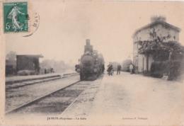 Bv - Belle Cpa JAVRON (Mayenne) - La Gare - Altri Comuni