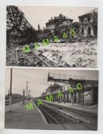CARTE PHOTO - 17 - SAINTES - MILITARIA - WWII -  GARE EXTREMITE NORD DU BV BOMBARDEE LE 24/06/1944 + RECONSTRUCTION 1947 - Saintes