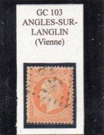 Vienne - N° 23 Obl GC 103 Angles-sur-Langlin - 1862 Napoléon III