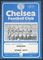 Official Football Programme  CHELSEA V STOKE CITY 1963/64 - Sports