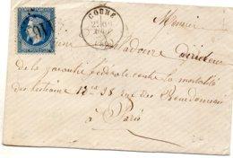 Vienne - LSC Affr N° 29B Obl GC 1161 - Càd Type 16 Couhé - Marcophilie (Lettres)