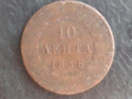GRECE : RARE 10 LEPTA 1836 - Grèce