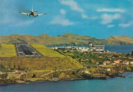 Portugal - Madeira - Santa Cruz - Airport Santa Catarina - Airplane Landing - Madeira