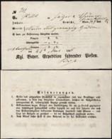 Germany - Bavaria, Königlich Bayerische Expedition Fahrender Posten, To Frankfurt 25.5.1866. - Bavaria