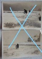 Photox3 OOSTENDE Ostende 1929 Mer Gelée Bevroren Zee Kursaal Dijck Digue Plage Kust - Lieux