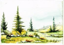 AQUARELLE DE DOMINIQUE CHANTELOUBE - Artiste Jurassien Et Arbois - N° 1001 - Carte Postée - Peintures & Tableaux