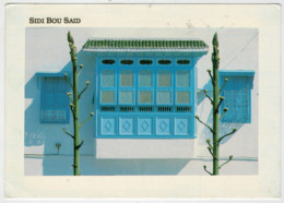 SIDI  BOU  SAID     ARCHITECTURE  LOCALE   2 SCAN        (VIAGGIATA) - Tunisia