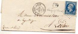 Vienne - LSC Affr N° 22 Obl GC Càd Type 15 La Roche Posay - Marcophilie (Lettres)