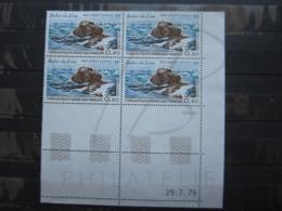 VEND BEAUX TIMBRES DE POSTE AERIENNE DES T.A.A.F. N° 57 EN BLOC DE 4 COIN DATE , XX !!! (a) - Airmail