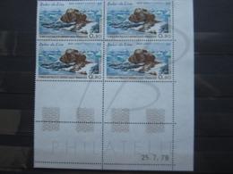 VEND BEAUX TIMBRES DE POSTE AERIENNE DES T.A.A.F. N° 57 EN BLOC DE 4 COIN DATE , XX !!! (b) - Airmail