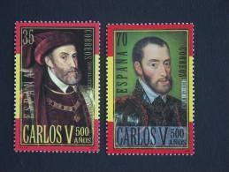 België Belgique Belgium Spanje Espagne Espagna 2000 Carolus Quintus Carlos V Karel V 3697-3698 Mi 3530-3531 MNH ** - Emissioni Congiunte