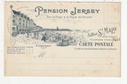 CARTE PUBLICITAIRE - SAINT MALO - PENSION JERSEY - 35 - Saint Malo