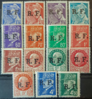 FRANCE 1944 - MNH/MLH - YT 1-15 - Liberation Stamps RHÔNES-ALPES (LYON) - Complete Set! - Liberation