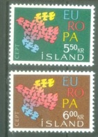 Iceland 1961; Europa Cept, Michel 354-355.** (MNH) - Europa-CEPT
