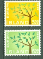 Iceland 1962; Europa Cept, Michel 364-365.** (MNH) - 1962