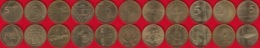 Slovenia Set Of 11 Coins: 5 Tolarjev 1993-1997 UNC - Slovenia