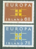 Iceland 1963; Europa Cept, Michel 373-374.** (MNH) - Europa-CEPT