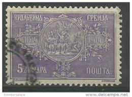 Serbia - 1904 King Peter Coronation Centenary 5di Used   SG 115  Sc 86 - Serbia